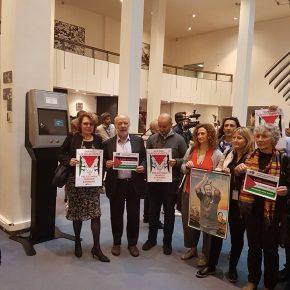 PHOTOS: Solidarité avec les prisonniers palestiniens au parlement européen le 27 avril 2017