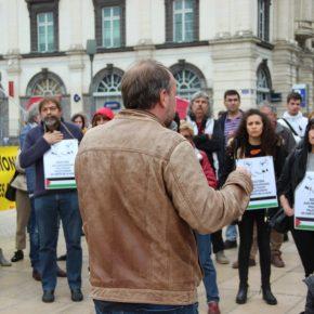 Soutien aux prisonniers: Action BDS-HP-FNAC Clermont en soutien aux prisonniers palestiniens grévistes de la faim (10 mai 2017)