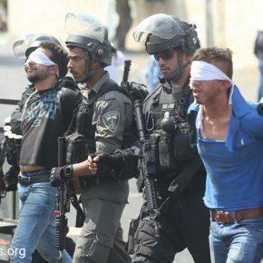 Un rapport commun estime à 880 le nombre de Palestiniens arrêtés en juillet 2017