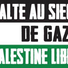 Pétition Union européenne : mettre fin à l'isolement de Gaza !