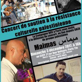 Concert en direct de Gaza du groupe Maimas
