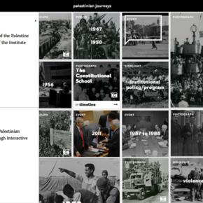 """Lancement de """"Palestinian Journeys"""" ( Parcours Palestiniens)"""