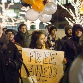 De jeunes juifs ont manifesté en soutien de la militante palestinienne Ahed Tamimi