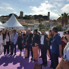 Moment de silence au Pavillon de la Palestine au Festival de Cannes  2018 : Nakba 70