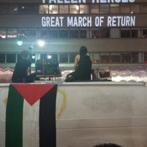 Un spectacle lumineux projette le nom de Palestiniens sur des immeubles de Manhattan