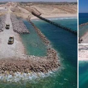 Les premières images de la barrière maritime israélienne bloquant Gaza
