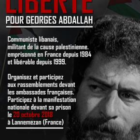 Semaine d'actions pour la libération de Georges Abdallah du 17 au 24 octobre 2018