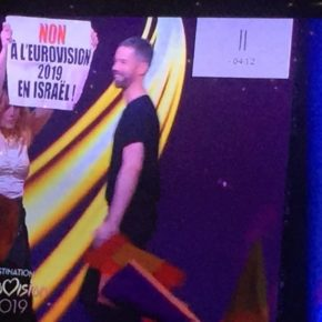 "Revue de presse suite à l'action BDS en direct lors de l'émission""Destination Eurovision"""