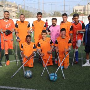 Appel à dons pour la rencontre amicale entre l'équipe des amputés de Gaza et l'équipe futsal de l'ACA