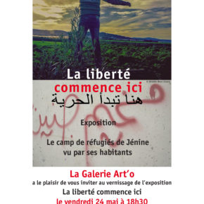 """Invitation à l'exposition """"la liberté commence ici"""" vernissage 24 mai 18h30 à Aubervilliers"""