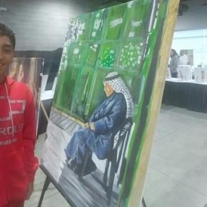 Un artiste adolescent palestinien délivre un message aux Etats Unis