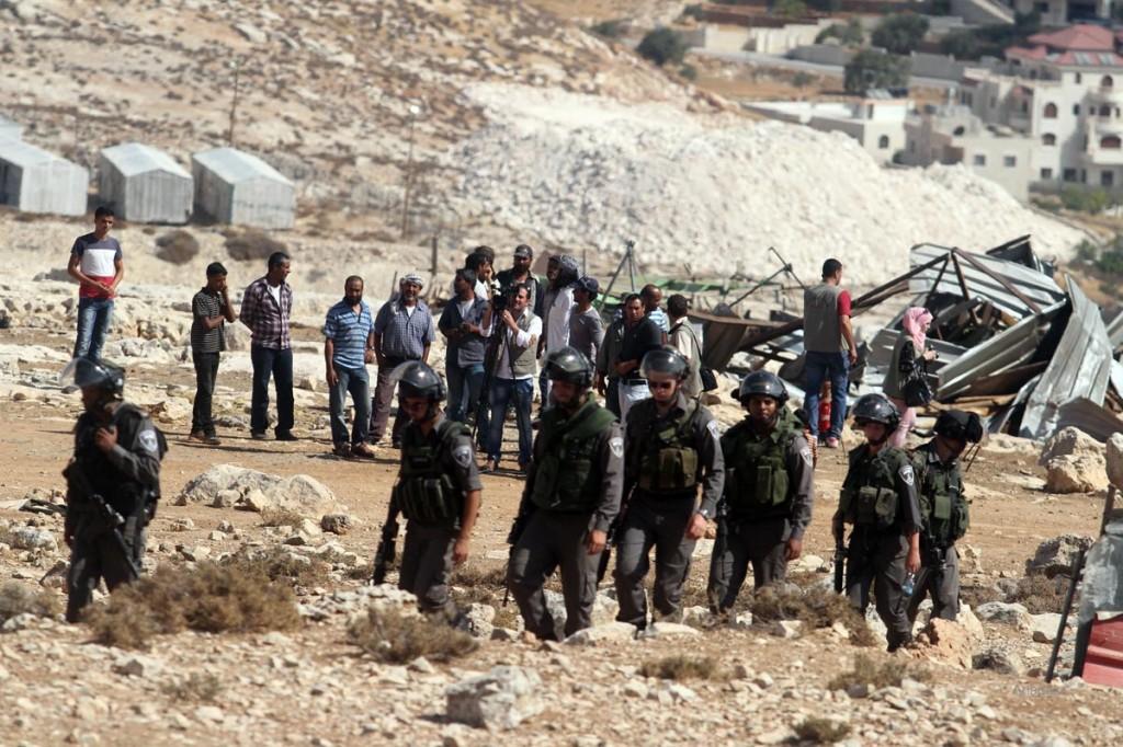 Israeli forces demolish houses in the West Bank village of Jabaa